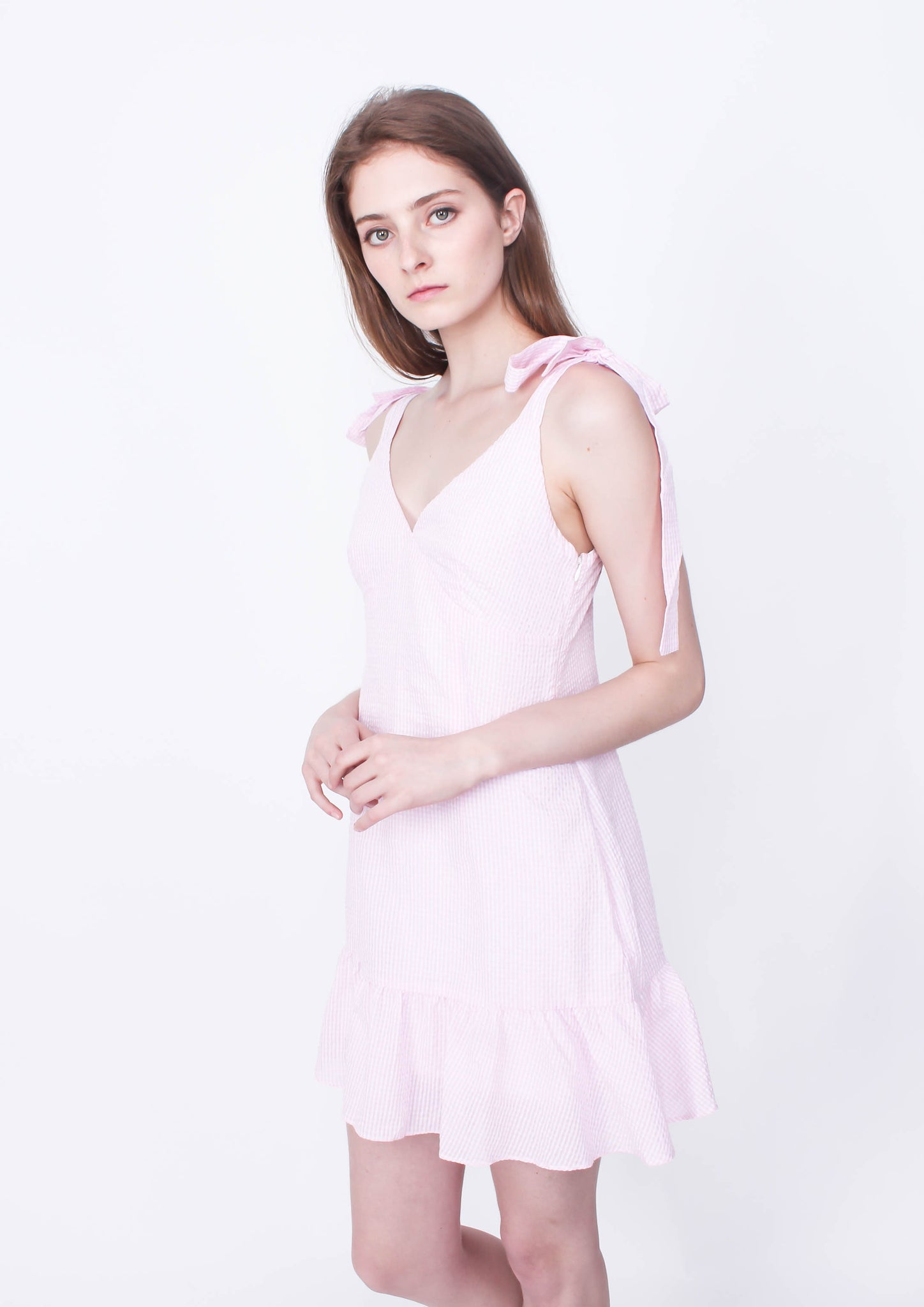 Gables Frill Dress (Pink/White)