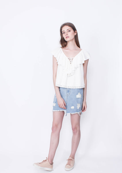 Dust Storm Denim Skirt (Dessert Wash)