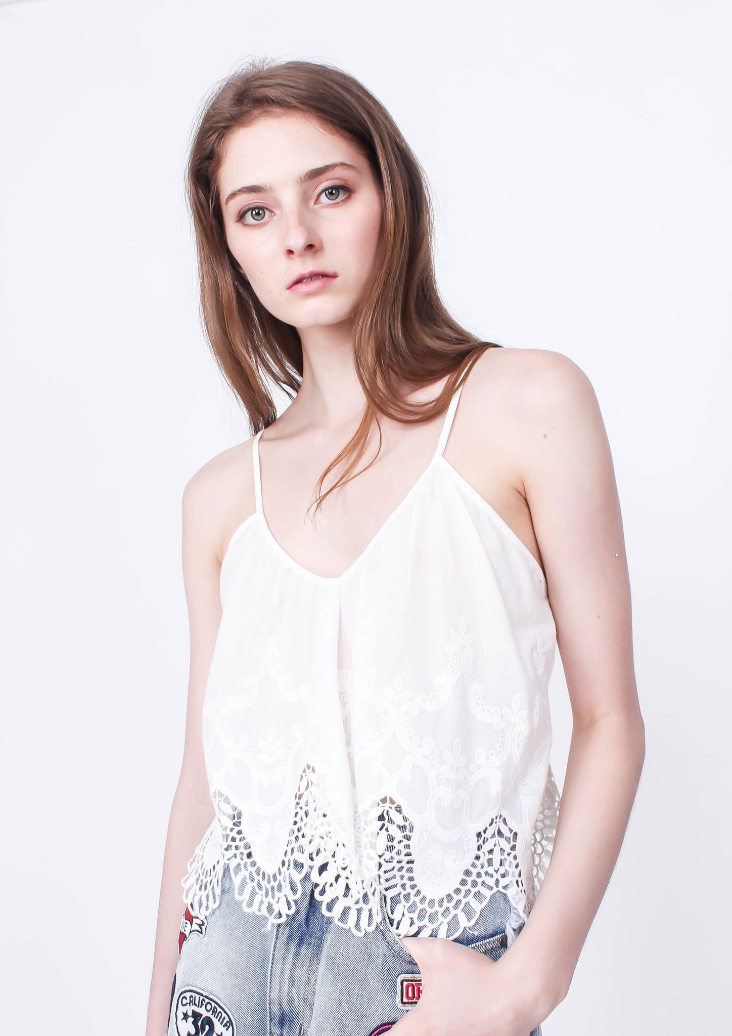 Charlotte Broderie Top - Moxie