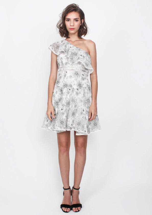 Parisa Ruffled Toga Mini Dress
