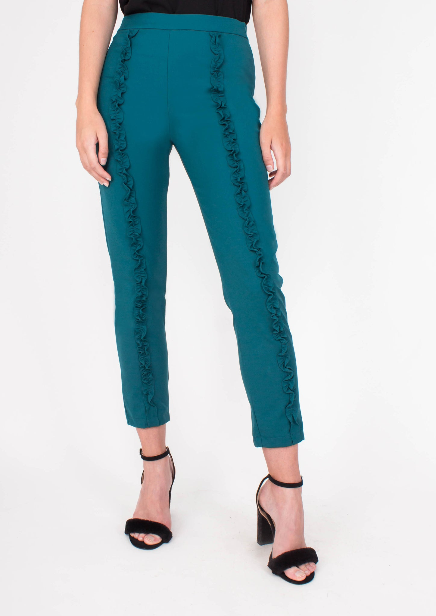 Dream Ruffle Pants (Forest) - Moxie