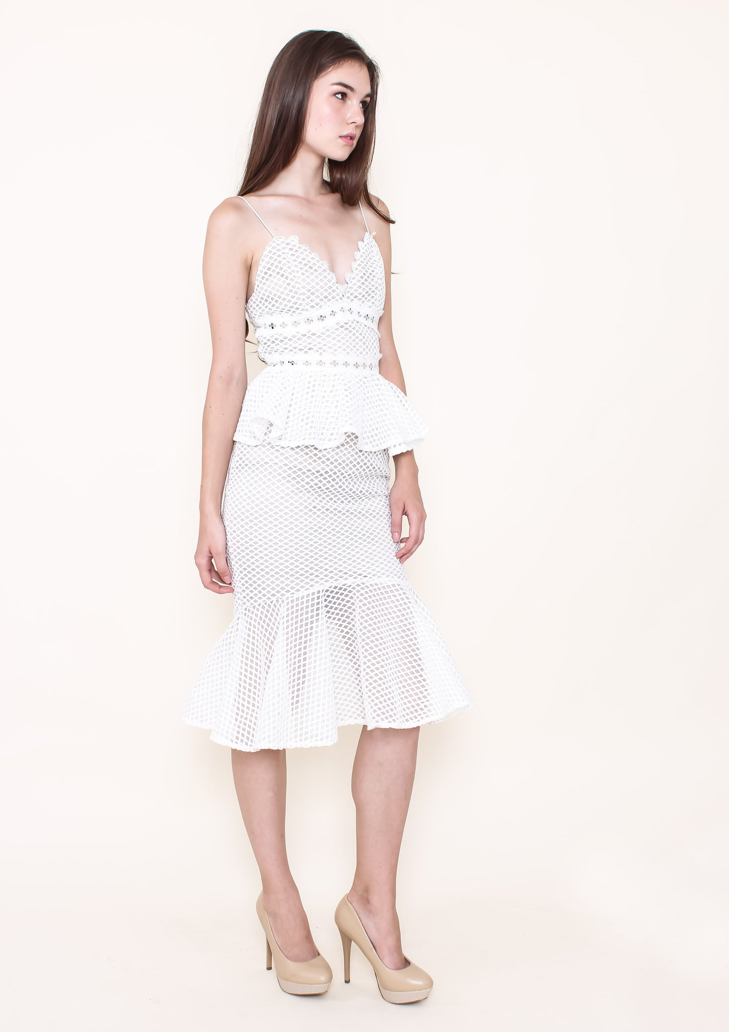 Ambition Dress (White) - Moxie