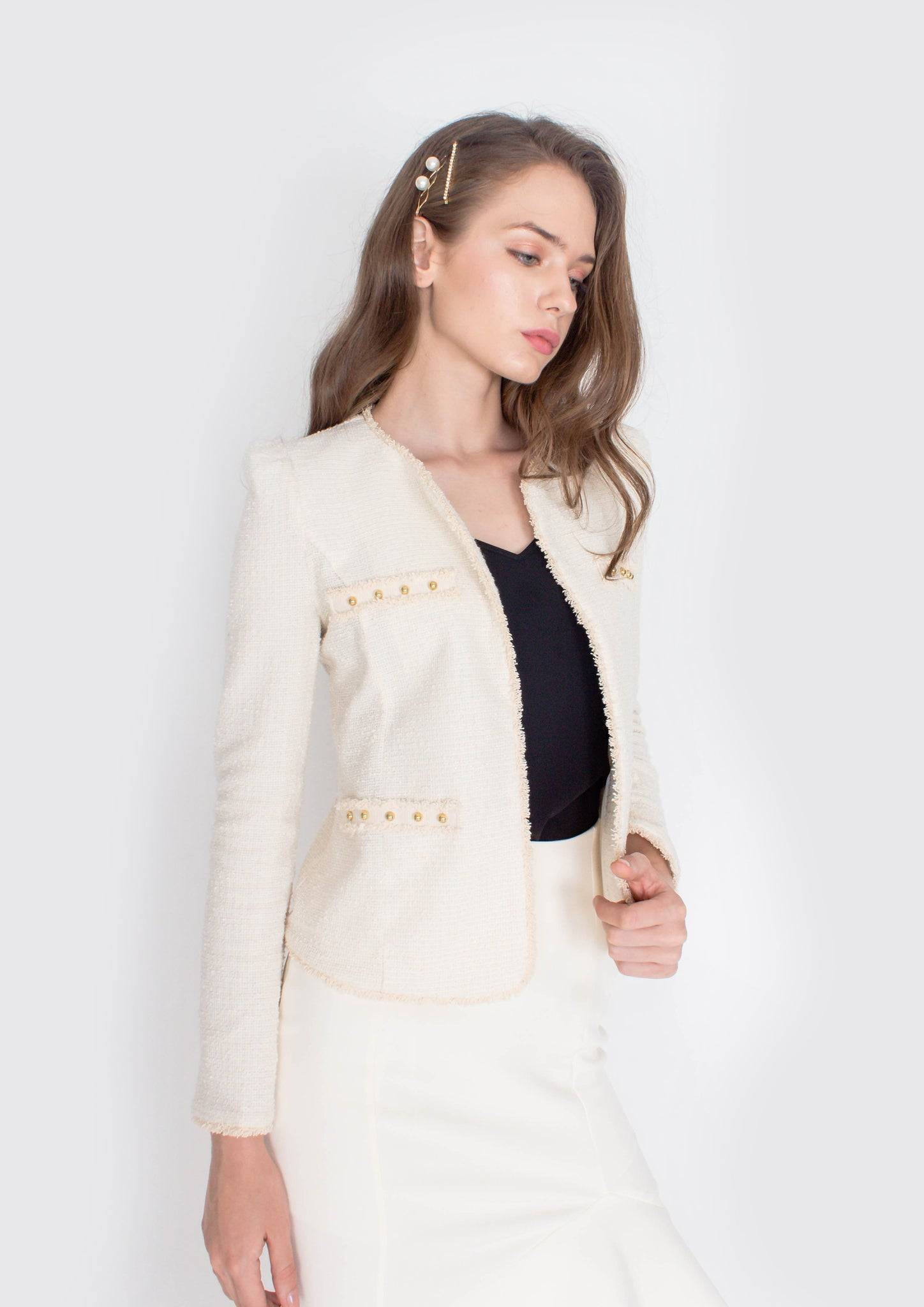 Coco Tweed Jacket (Cream)