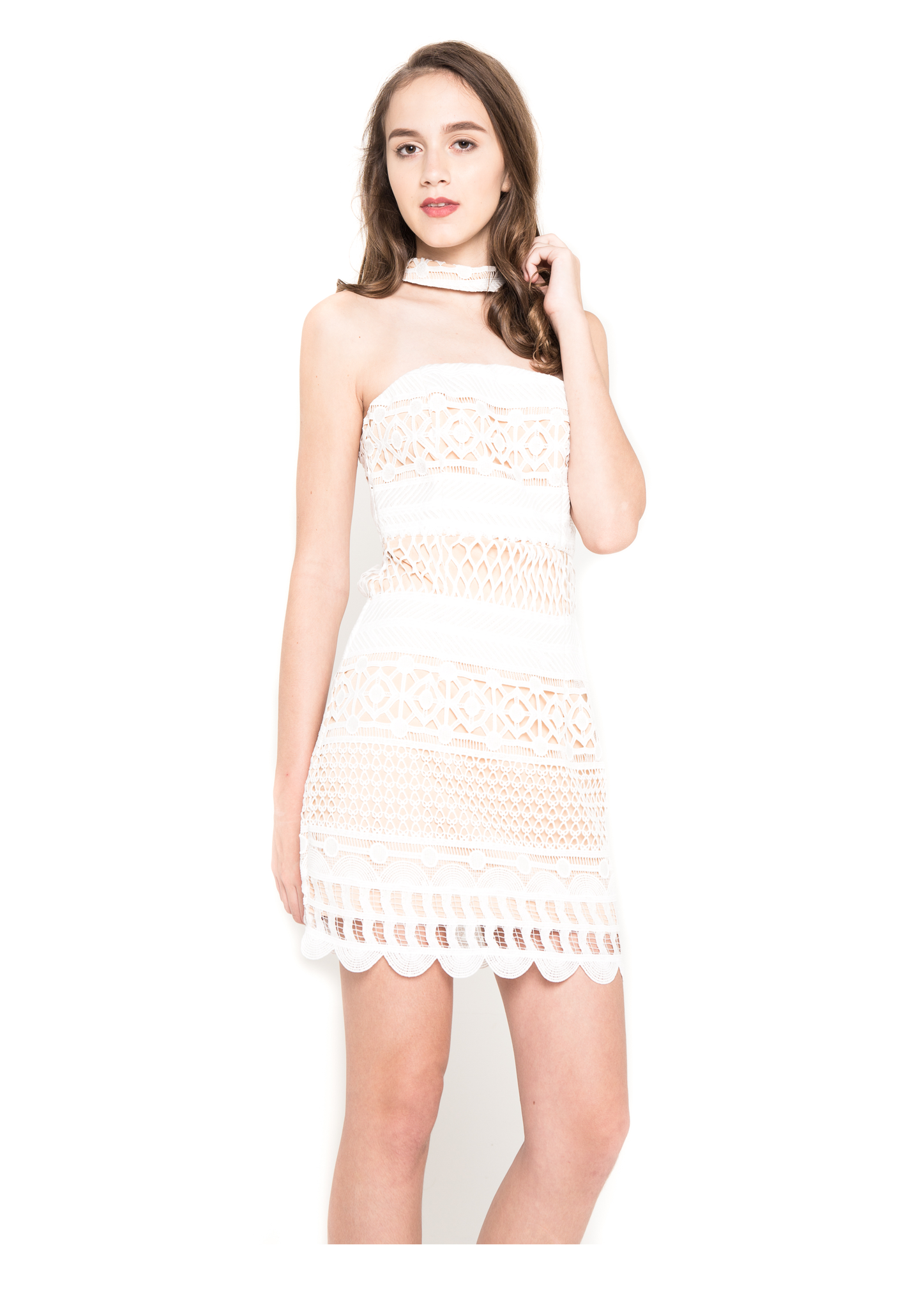 Lace Choker Dress - Moxie