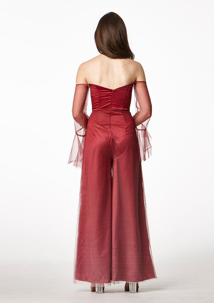 MOS Ombre Jumpsuit (Red) - Moxie