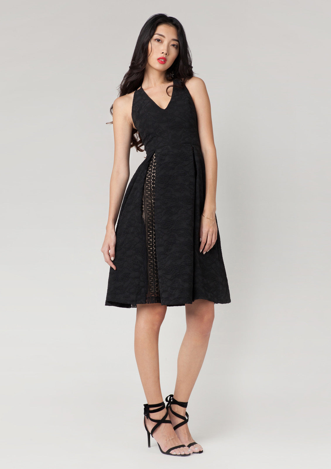 Marcessa Jacquard Dress (Black)