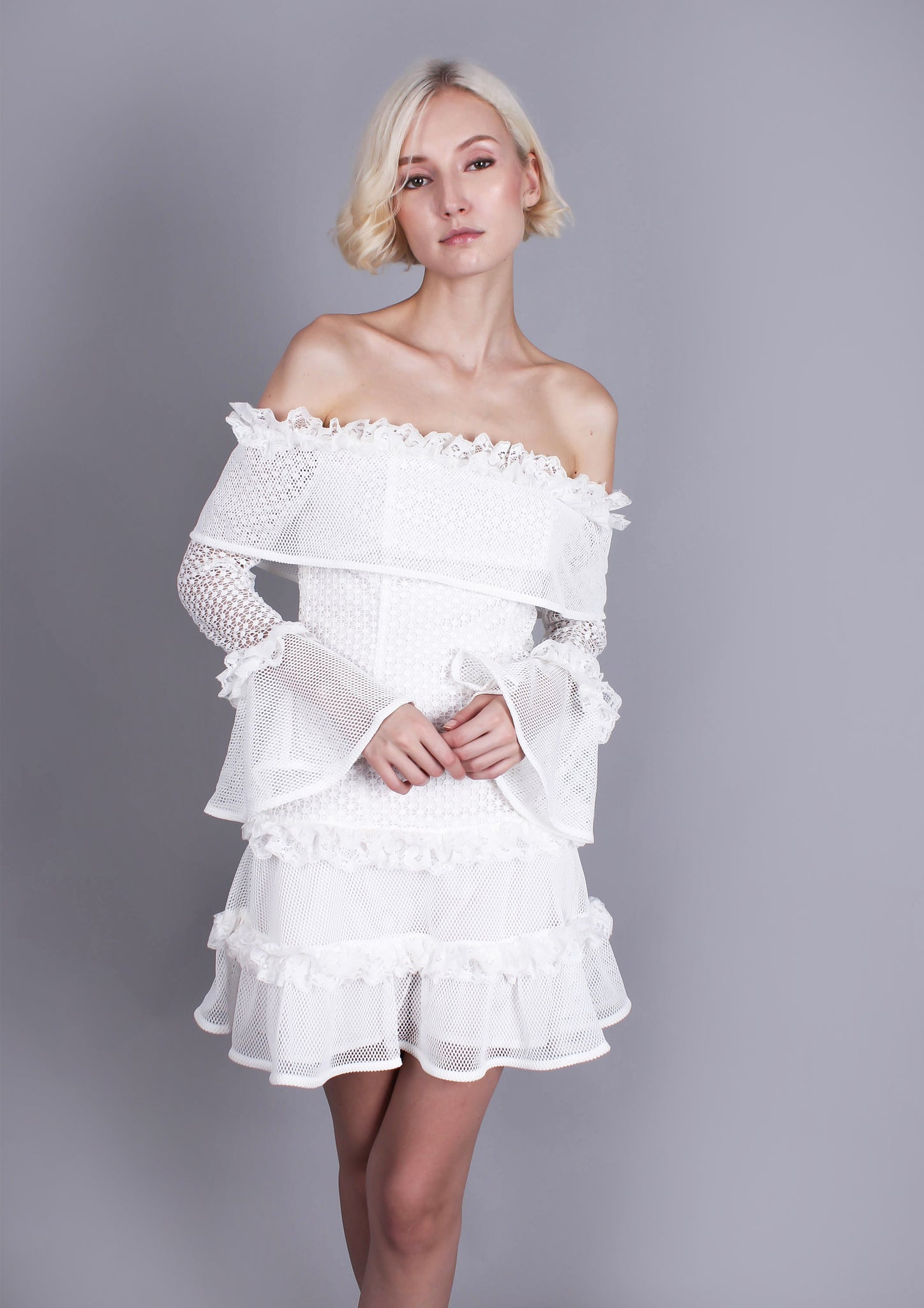 The Mood Swing Dress (White)