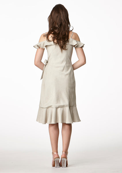 Now Wrap Dress (Beige)