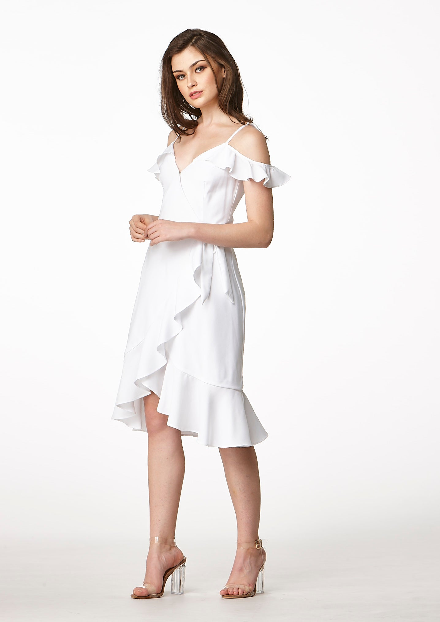 Now Wrap Dress (White)