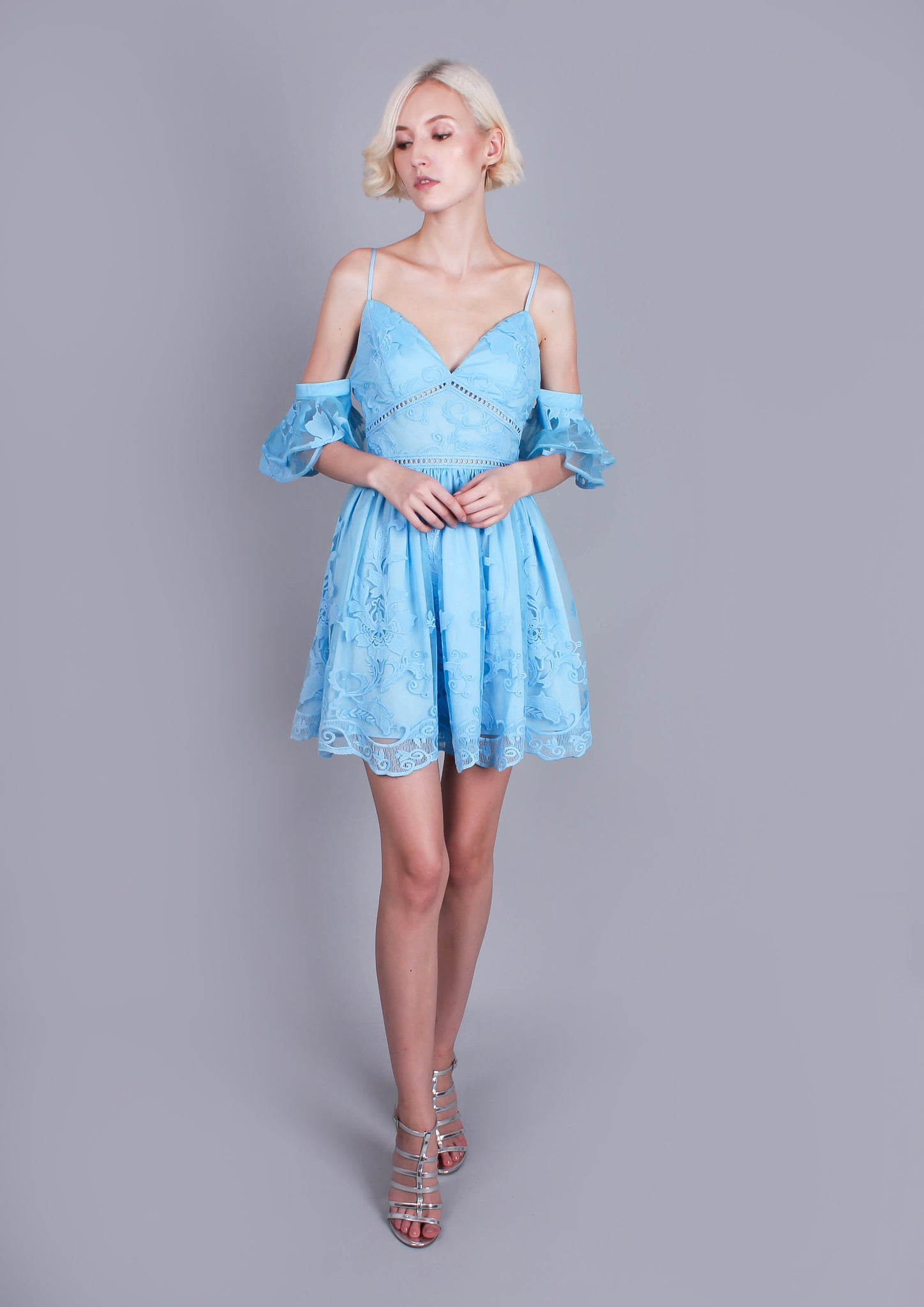 Narnia Dress (Baby Blue) - Moxie