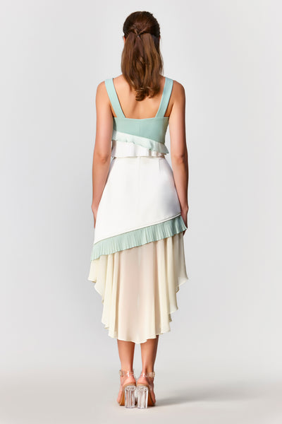 Dawn Pleated Sleeveless Top - Moxie