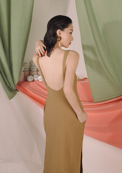 Rheia Slip Dress (Peanut)