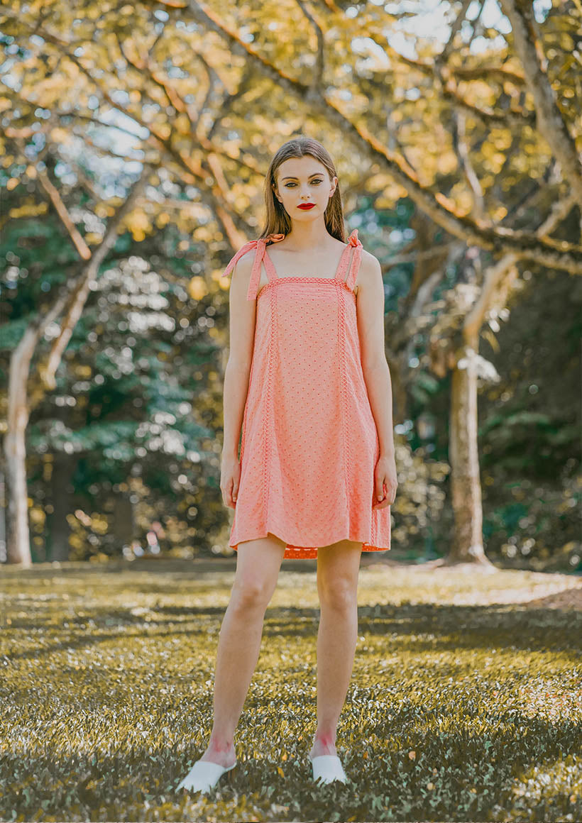 Valeriey Floral Eyelet  Dress (Sorbet)