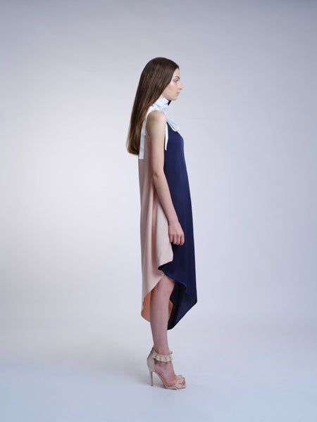 Countless Stories Toga Dress (Navy/Pink)