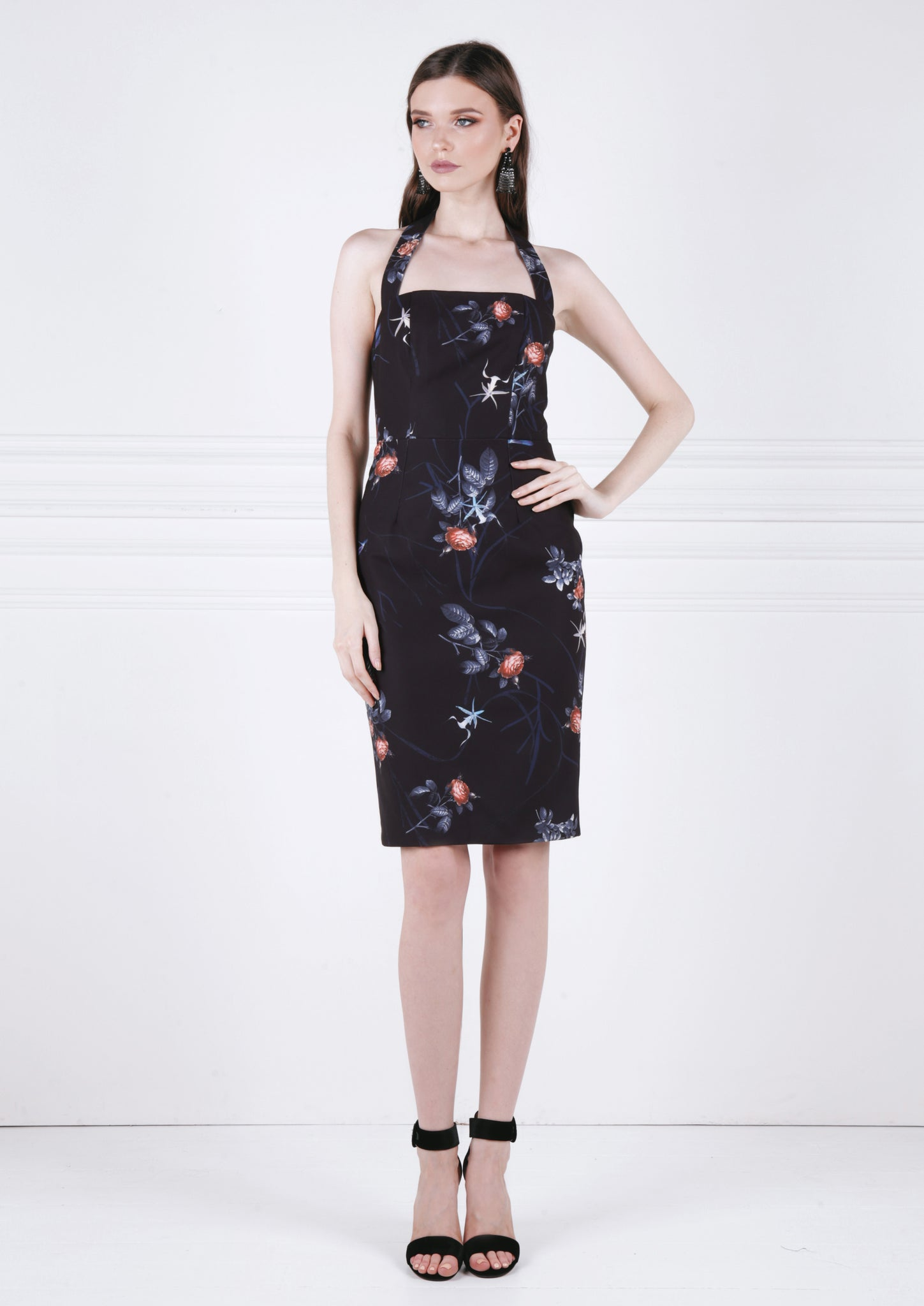 Arthropoda Midi Dress (Floral) - Moxie