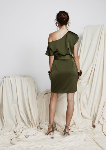 Borderline Dress (Olive) - Moxie