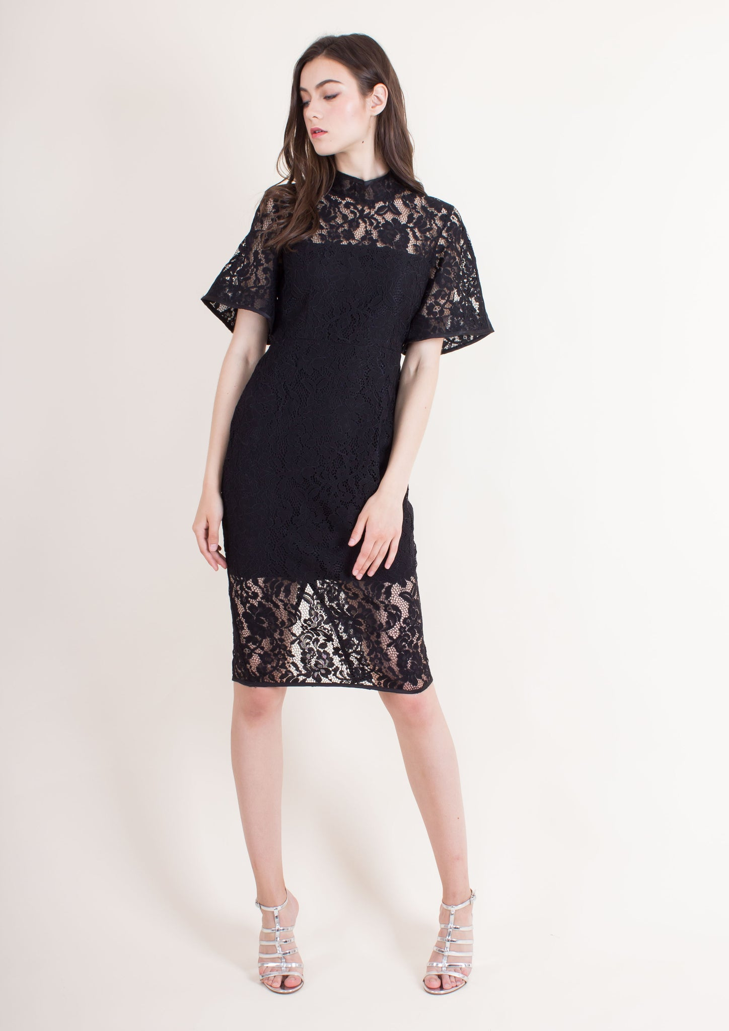 Padova Bell Sleeve Dress (Black)