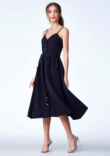 Cruise'18 Day Dress (Black) - Moxie