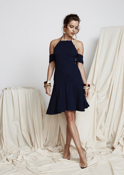 Mind Games Dress (Navy) - Moxie