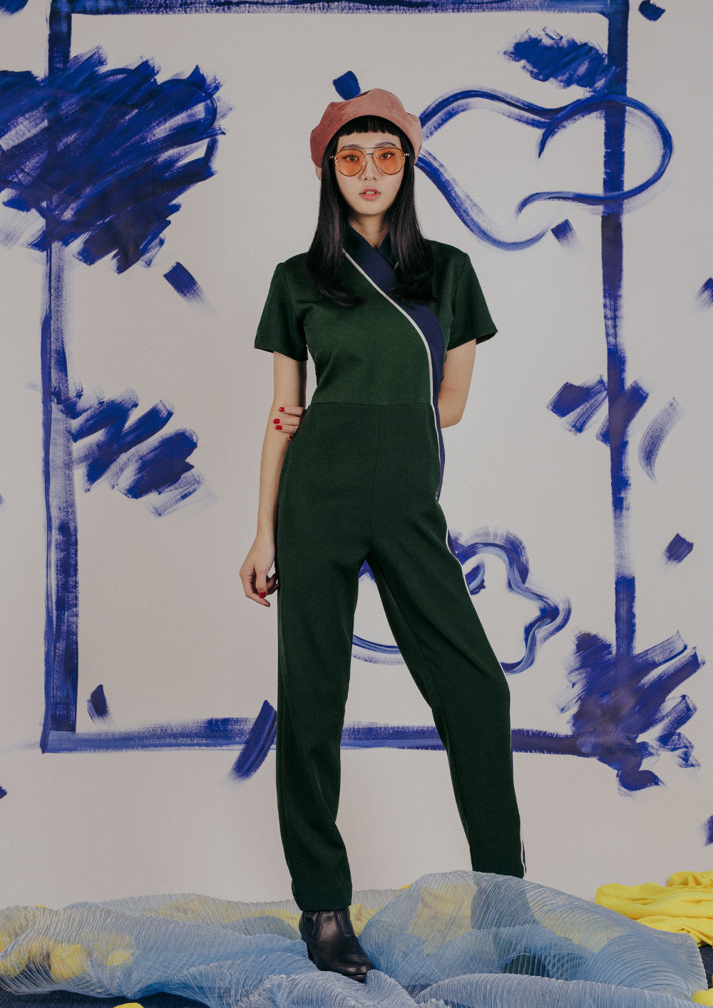 Leda Jumpsuit (Forest)