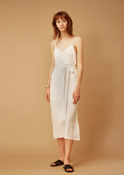 Gentlewoman Strap Dress (White) - Moxie