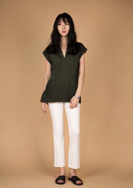 Full Moon Structured Top (Military Green)