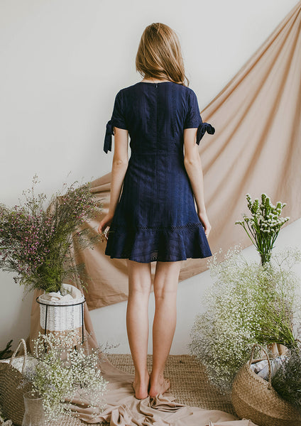Reverie Eyelet Dress (Navy)