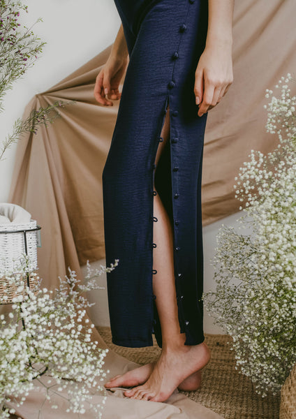 Tiana Button Pants (Navy)