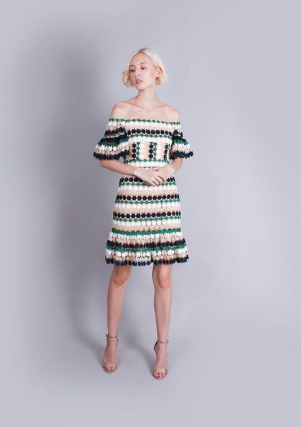 Amelia Tricolor Mini Dress - Moxie