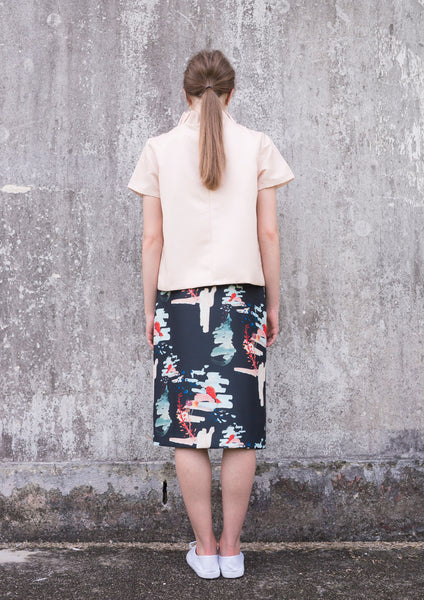 Infinite Wonders Skirt (Print / Red Bow)