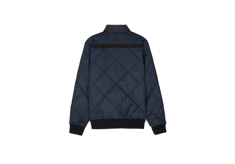 QUILTED WAXED JACKET INKY BLUE