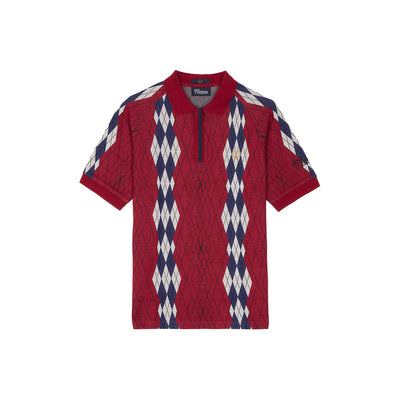 ARGYLE PIQUE SHIRT BLACKBERRY