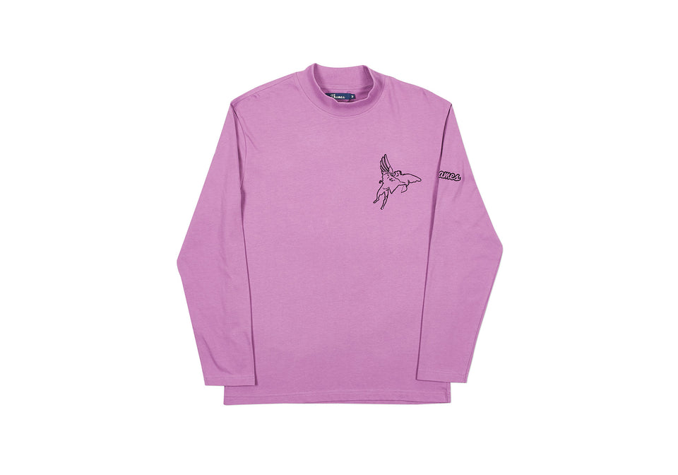 TECH FUNNEL NECK LONGSLEEVE LILAC