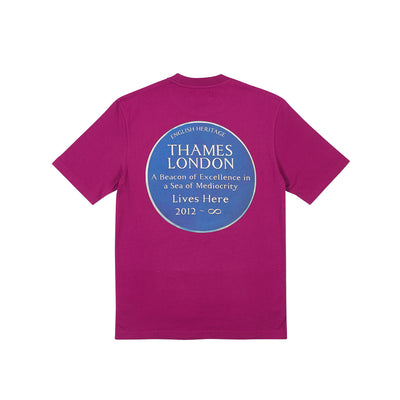 INFINITY PLAQUE T-SHIRT DARK PINK