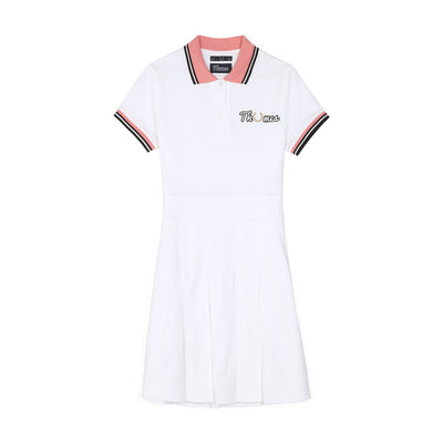THAMES PIQUE TENNIS DRESS SNOW WHITE