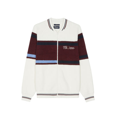 THAMES LOOP KNIT ZIP BOMBER SNOW WHITE