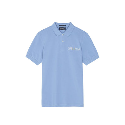 THAMES EMBROIDERED PIQUE SHIRT SKY