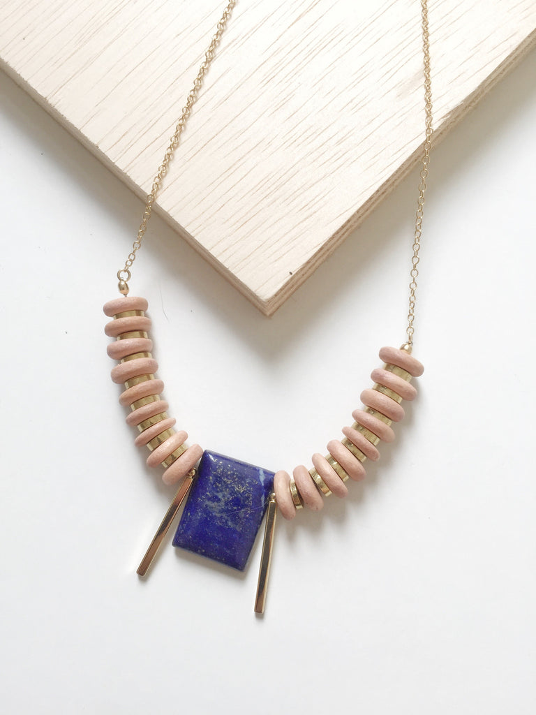 Egyptian Inspired Statement Necklace - Lapis Lazuli