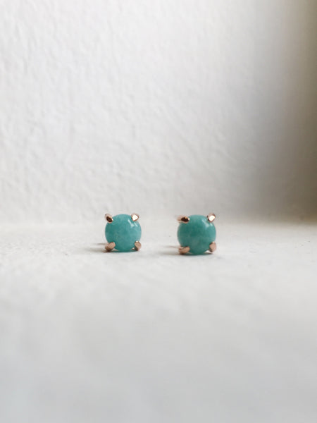 Basic - Everyday Earstuds - Amazonite