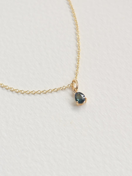 Charmed - One-of-a-Kind Pendant - Tear Drop Parti Sapphire in 18k Gold