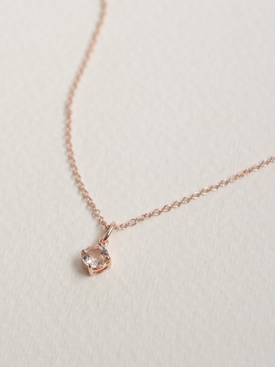 Charmed - Pendant - Morganite in 18k Rose Gold