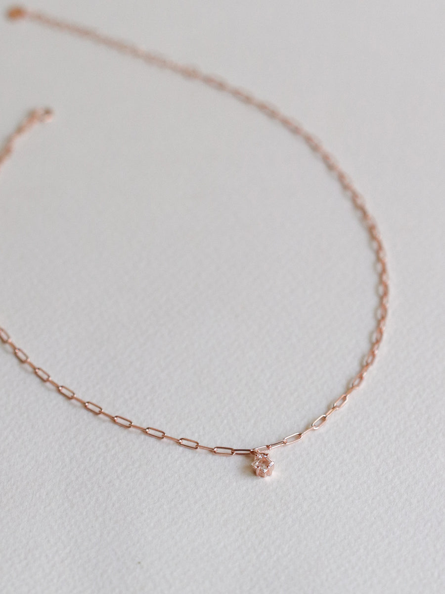 Kimberly Choker - White Topaz (Rose Gold)