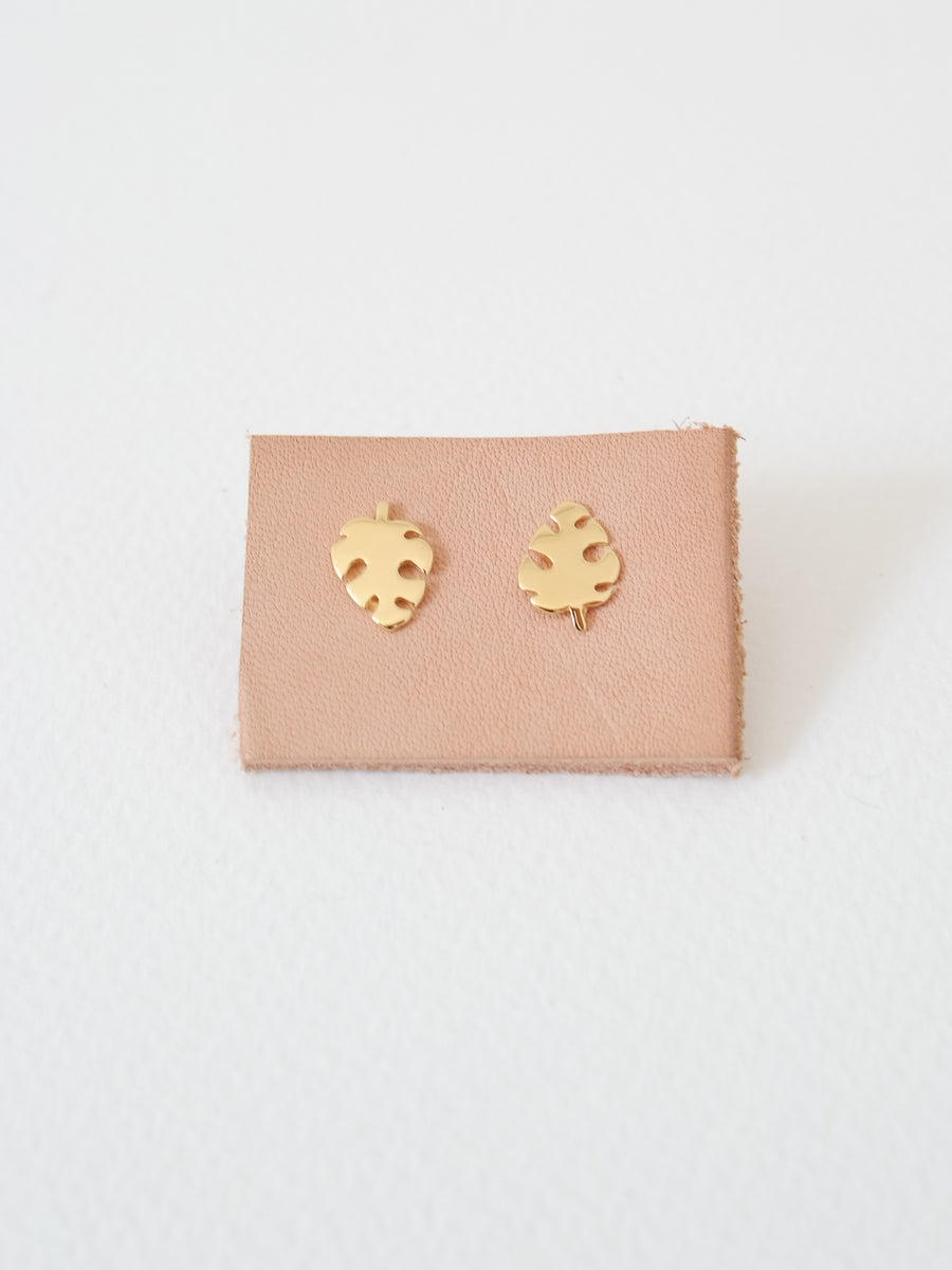 Monstera Ear Studs (Gold / Silver)