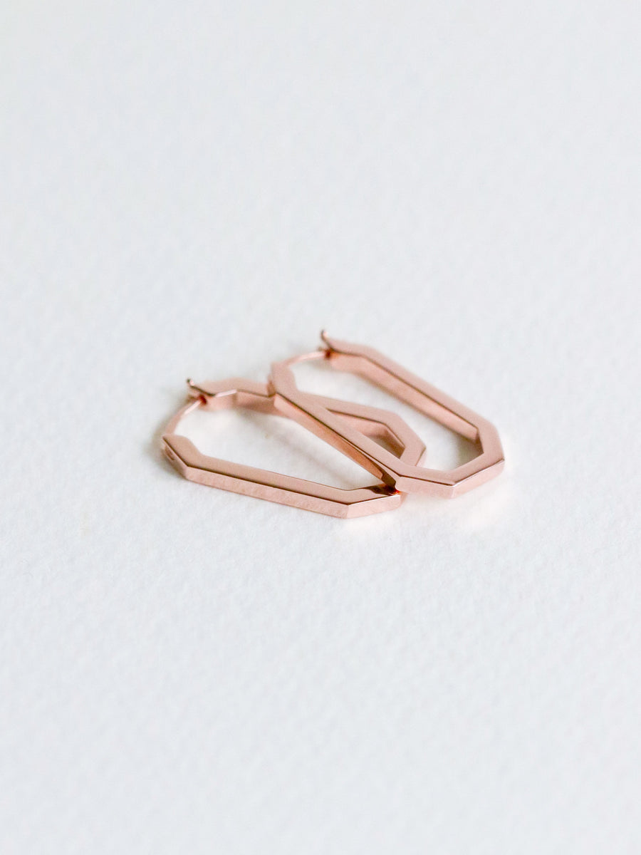 Octo Hoops (Rose Gold)