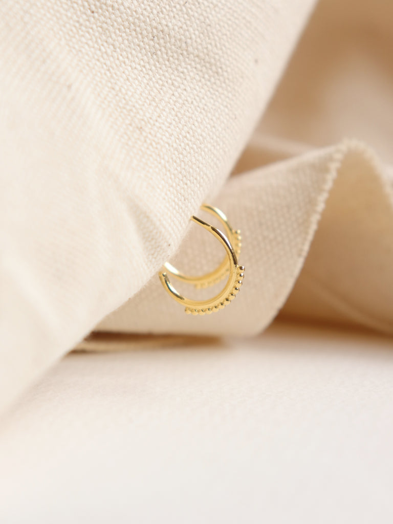 Mini Spheres Hoops in Gold