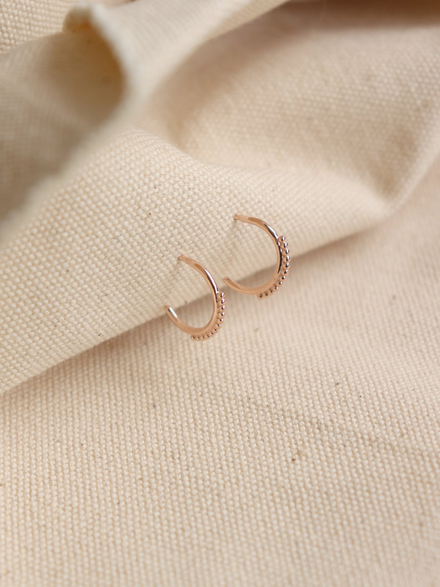 Mini Spheres Hoops (Rose Gold)