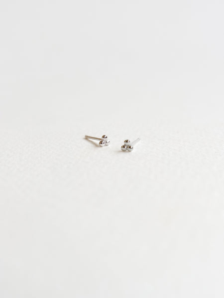 PLAIN - Trio Sphere Ear Stud in Silver