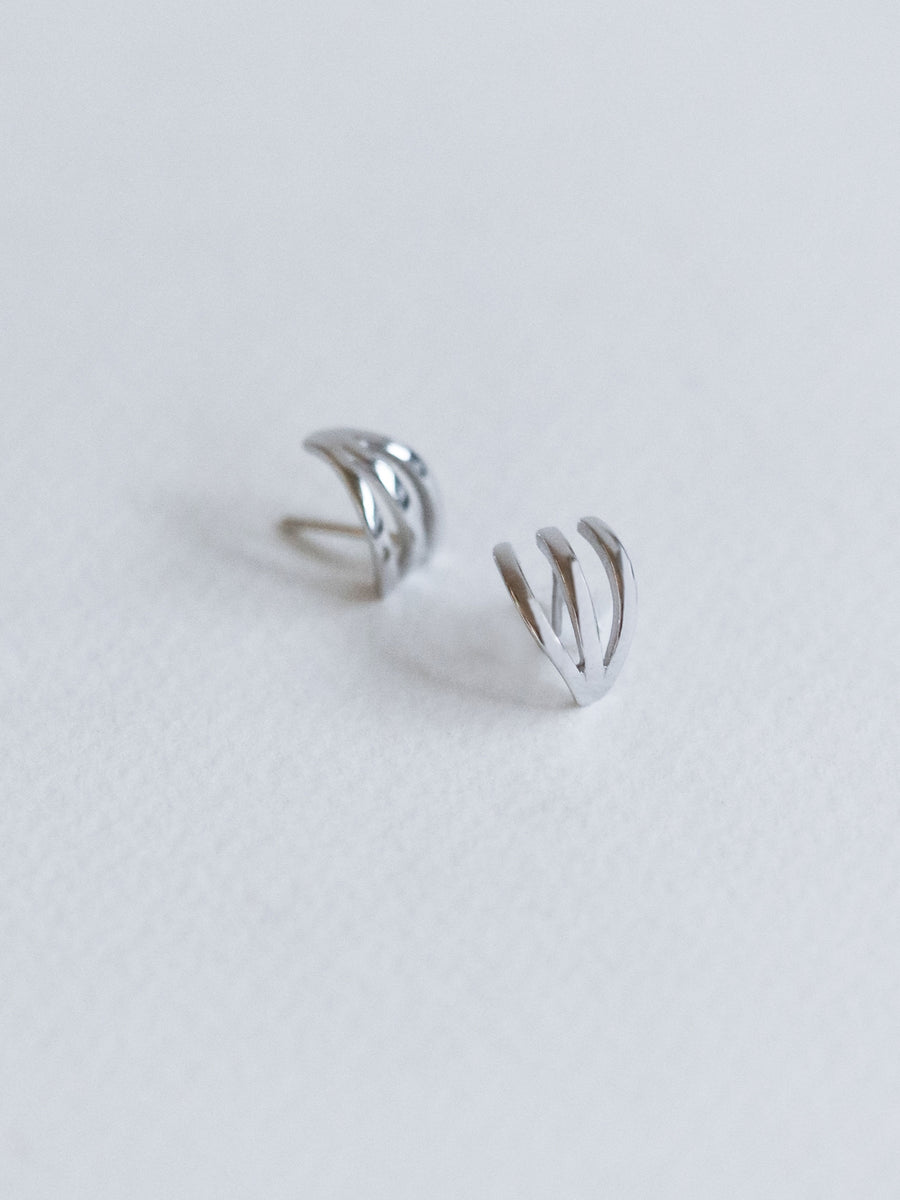 Trois Earrings (Silver)