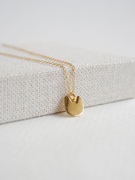 Cat Face Pendant - Gold