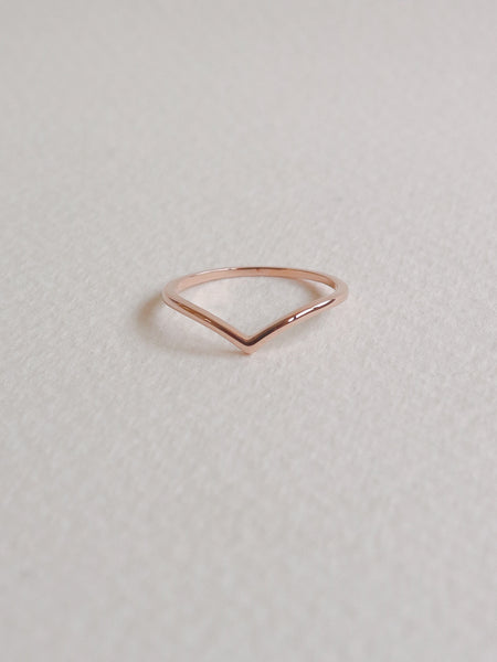 Arc Ring in Rose Gold-Plated